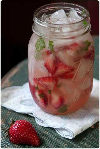 Moonshine strawberry infused summer wedding cocktails image