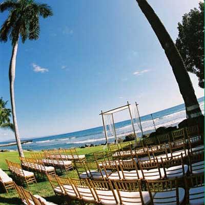Maui wedding Chuppah at Olowalu plantion house in West Maui.