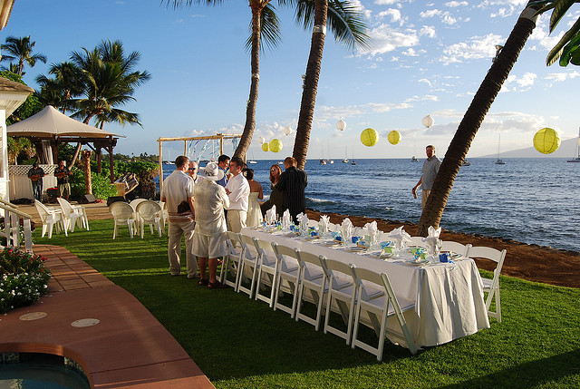 Maui wedding catering for private estate wedding location in Lahaina.