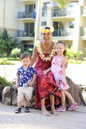Haku head lei Hawaiian wedding flowers.