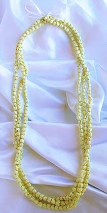 pikaki fresh flower lei is a beautiful choice for a tropical wedding lei.
