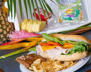 The Hana Box Lunch Picnic includes a cooler with FREE Ice refills for the Road to Hana.