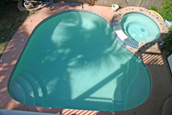 Heart shaped pool at oceanfront wedding estate venue in Lahaina for catered weddings on Maui.