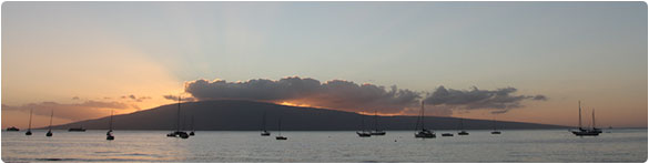 A Maui sunset from Lahaina.