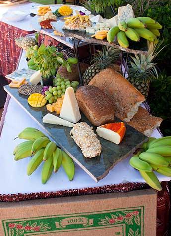 A display of custom cheese prepared by Maui chef Christian Jorgensen.