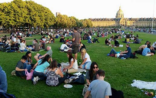 Chef CJ and his Maui family enjoy a picnic in Paris on Bastille Day.