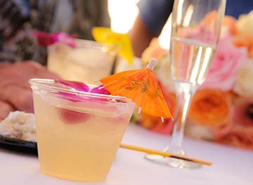 Purchase your own alcohol for Maui cocktail service at Maui weddings.