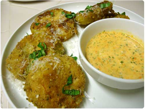 Fried Green Tomatoes Recipe by Maui Chef Christian Jorgensen.
