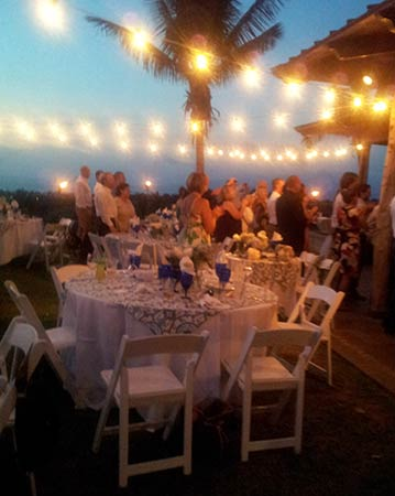 Catering for a wedding on Maui.