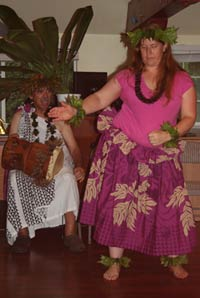 Maui executive catering event with traditional Hawaiian blessing at Maui Noni Biotech.
