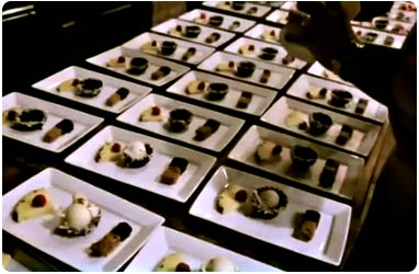 Holiday party desserts made by Chef Christian Jorgensen of Comfort Zone Maui Catering.