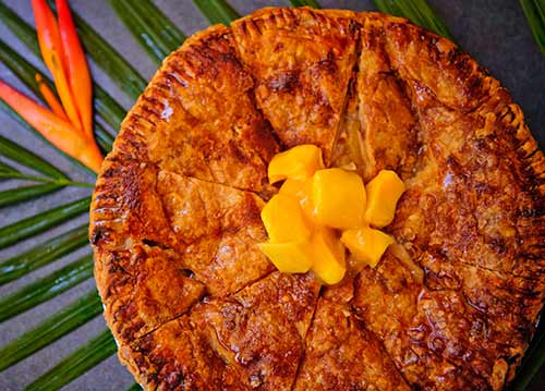Homemade Mango Apple Pie in Kaanapali Resort made by Maui Chef Christian Jorgensen.