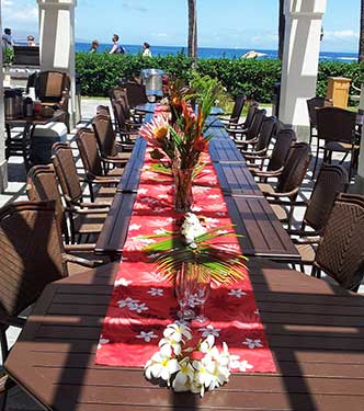 A catered event in Kaanapali at the Alii condos