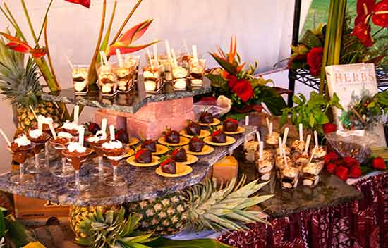 A dessert station at the Kaanapali Fresh Foodie Festival in West Maui.