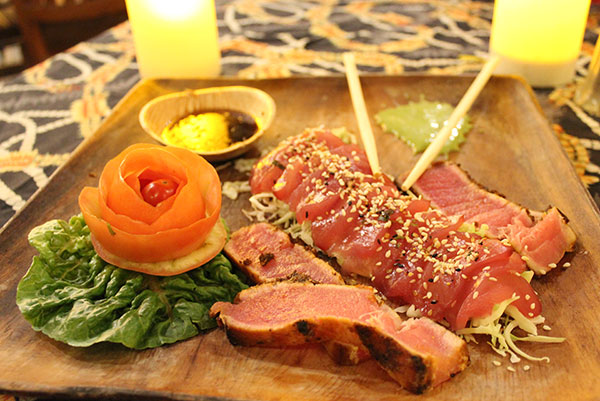Fresh Ahi Sashimi could be included in your You Catch It, We Cook it Dinner on Maui.