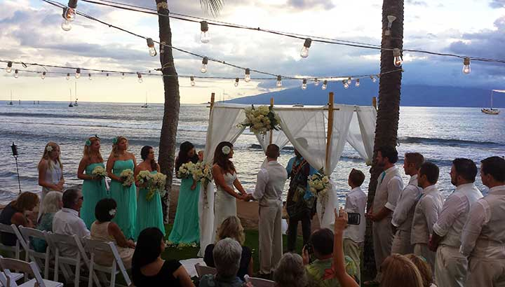 One of the many oceanfront Maui wedding venues in Lahaina and near Kaanapali.