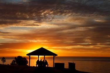 A public beach park as a Maui wedding location.