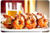 Maui barbecue shrimp for a Maui family reunion.