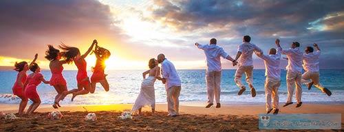 A Maui beach wedding location in Kaanpali at the Eldorado.