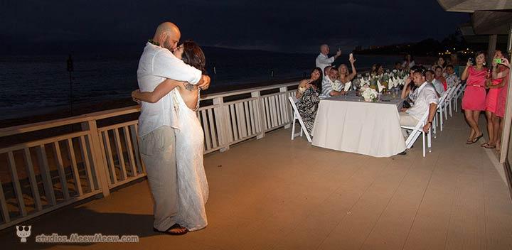 The cabana is a fantastic Kaanapali wedding location for Maui beach weddings.