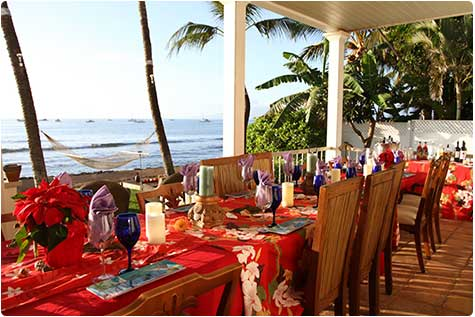 Catering for a family reunion on Maui.