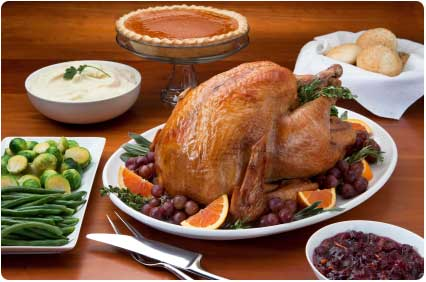 A complete Maui Thanksgiving Dinner prepared by Chef Christian Jorgensen.