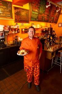Maui chef Christian Jorgense at his CJs Deli Diner Kaanapali Maui restaurant.