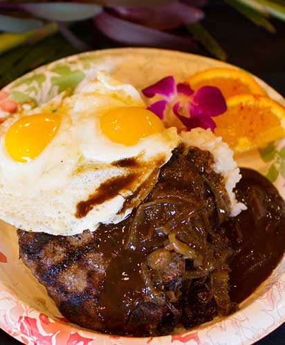 The Best Loco Moco on Maui at CJs Restaurant in Kaanapali.
