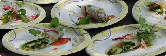 Maui Chef Christian Jorgensen Maui Onion Summer Rolls Recipe Image.