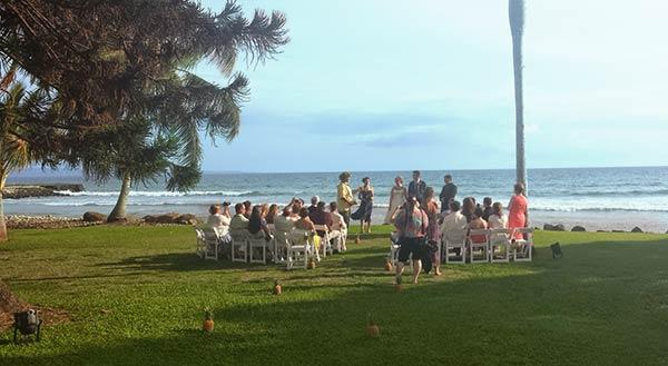 A Maui wedding at the Olowalu Plantation House private estate venue.