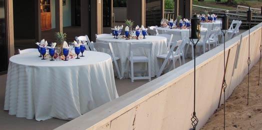 Comfort Zone Catering Beach wedding location at the Eldorado cabana.