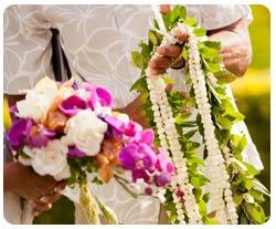 Maui wedding flowers and fresh flower lei for weddings on Maui