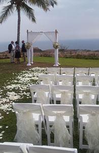 A West Maui wedding reception.