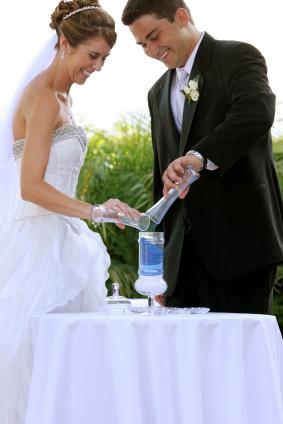 Maui wedding sand exchange ceremony image.
