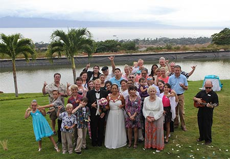 A West Maui wedding location with ocean views.
