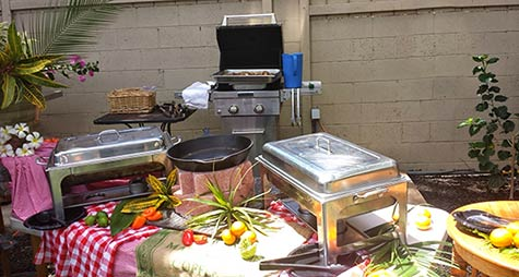 Maui catering at the Sunseeker vacation rental in South Maui.
