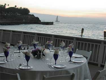 A catered wedding reception in Kaanapali Maui.